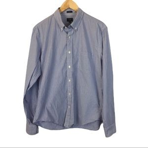 J Crew blue striped shirt